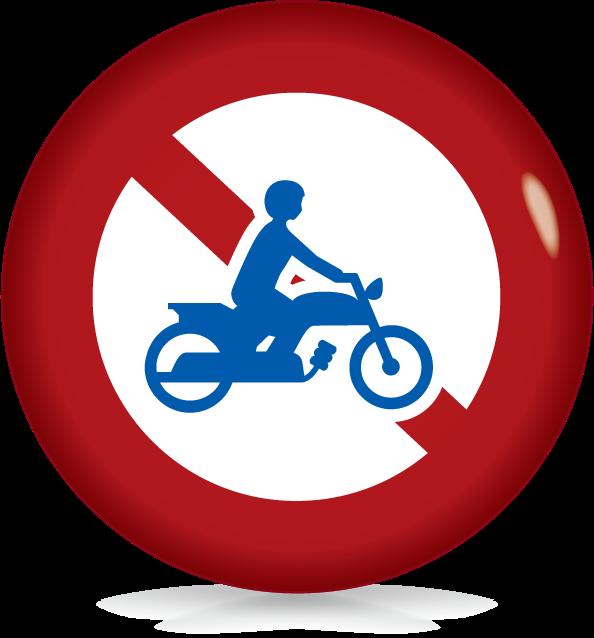 二輪の自動車・原動機付き自転車通行止め-アイコン-文字なし
