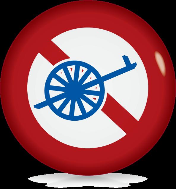 自転車以外の軽車両通行止め-アイコン-文字なし