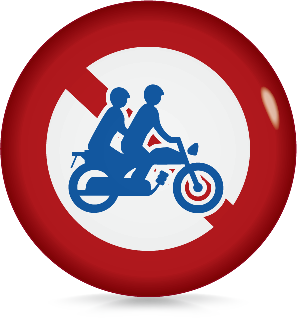 大型自動二輪者および普通自動二輪車二人乗り通行禁止-アイコン-文字なし