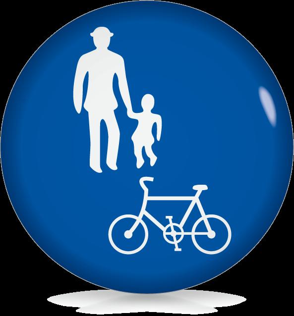 自転車および歩行者専用-アイコン-文字なし