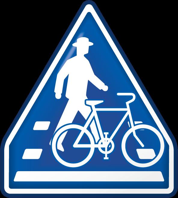 横断歩道・自転車横断帯-アイコン-文字なし