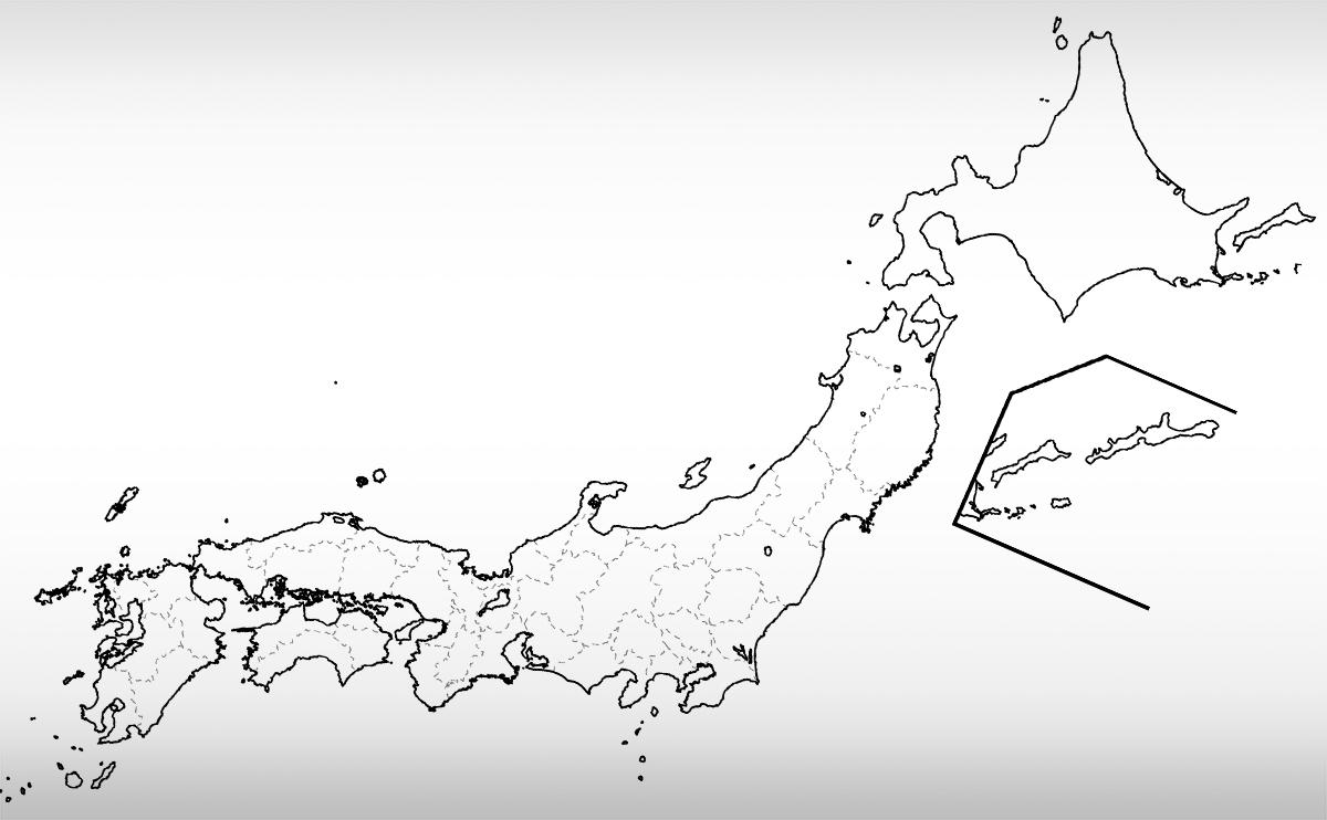 地理 白地図 の本地図