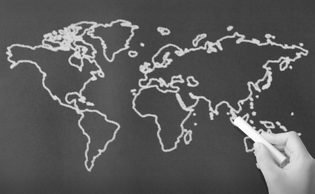 国旗 世界地図 イラスト 全域