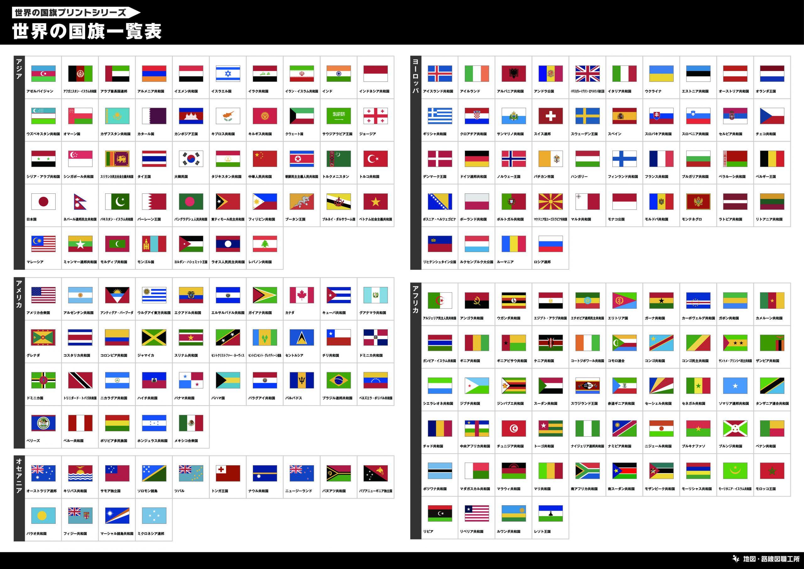 世界の国旗一覧表