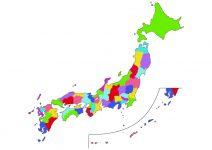 日本地図全土イラスト(基本)-文字なし都道府県線なし(柄)