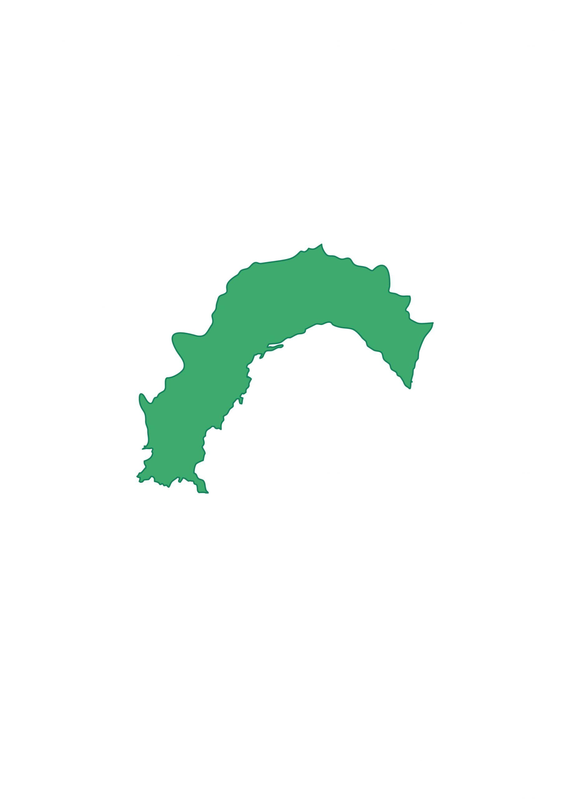高知県無料フリーイラスト|文字なし(緑)