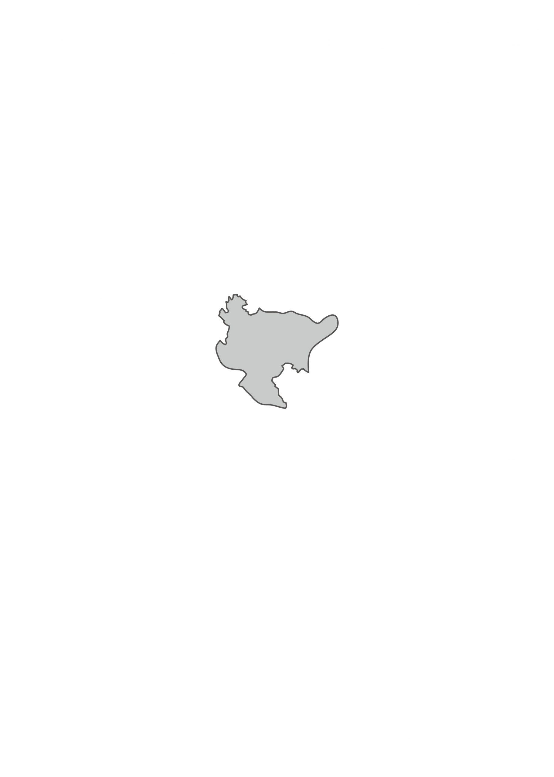 佐賀県無料フリーイラスト|文字なし(グレー)
