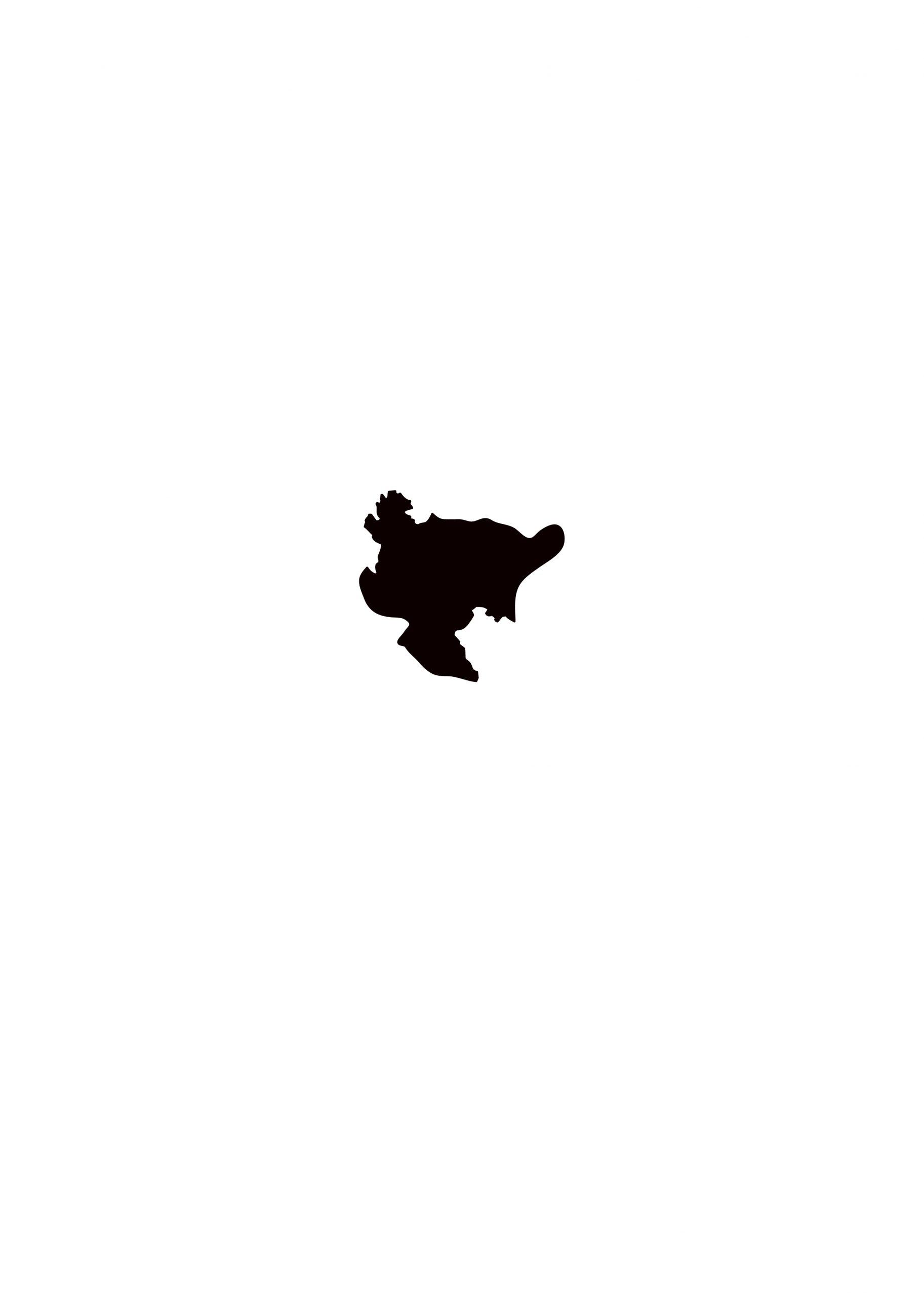 佐賀県無料フリーイラスト|文字なし(黒)