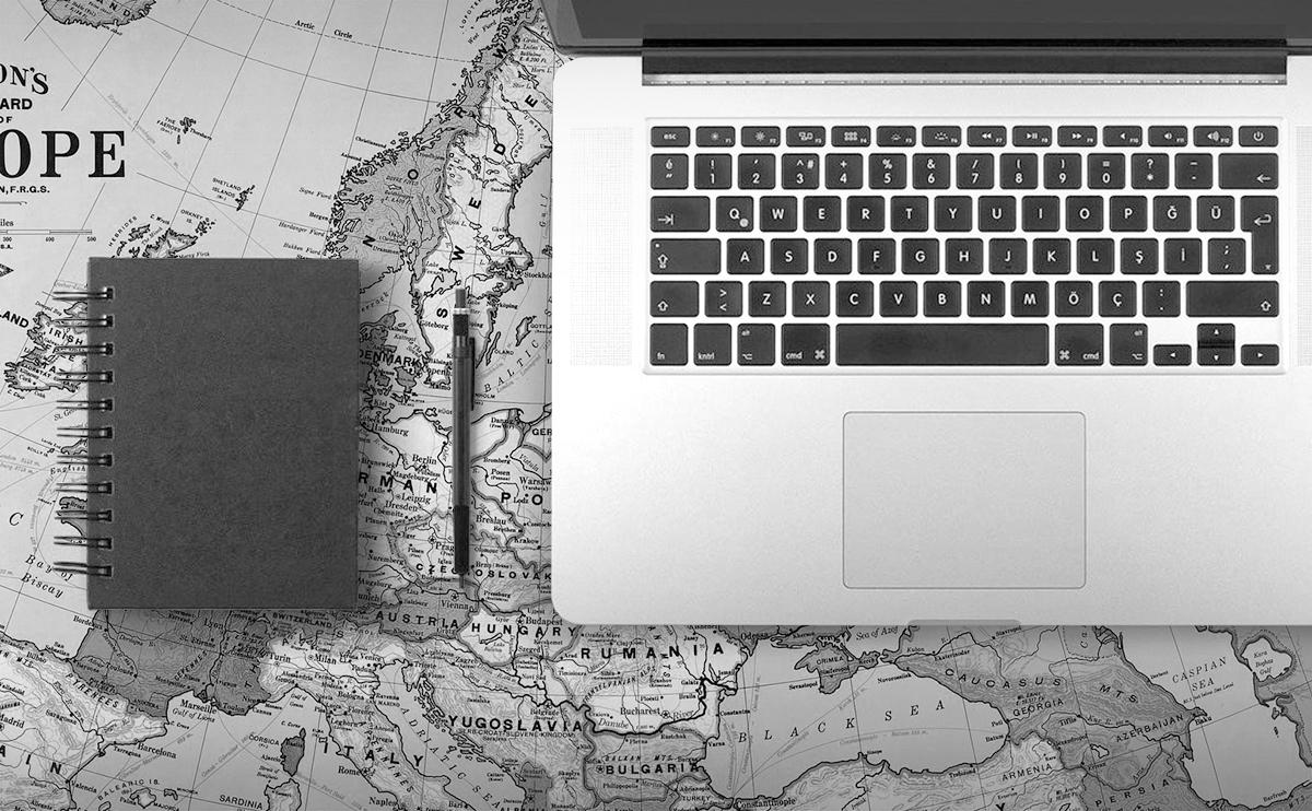 世界地図 デスクマット