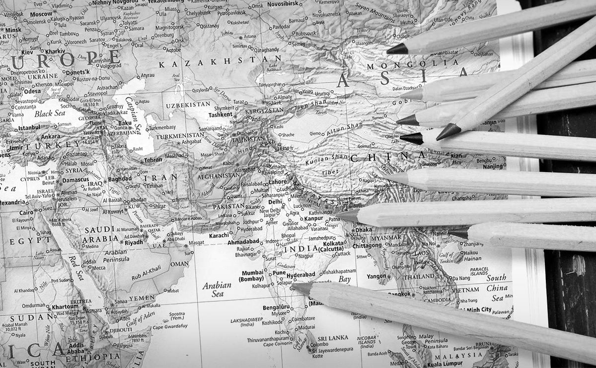 世界地図ぬりえ・なぞりえ