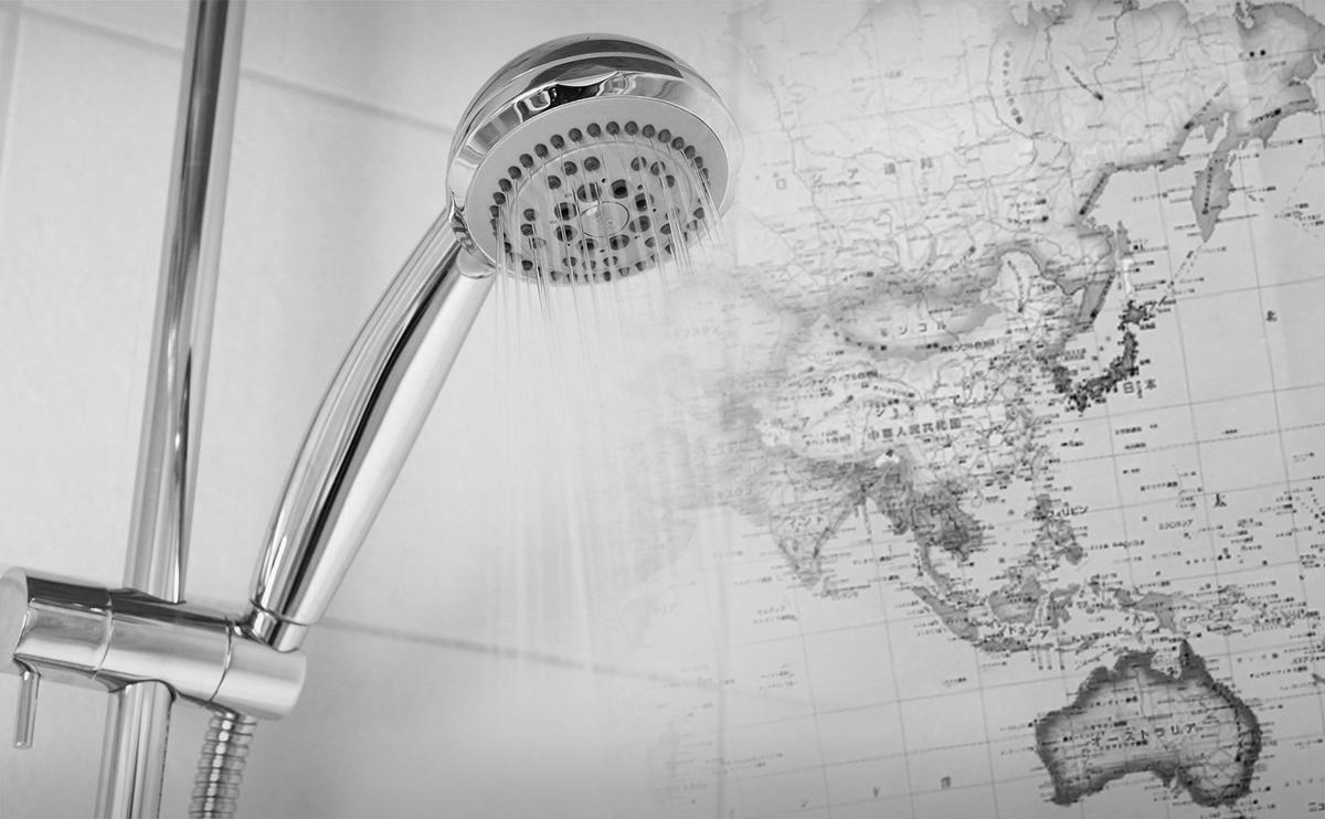 世界地図 お風呂ポスター