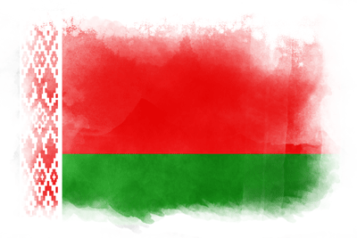 ベラルーシ共和国の国旗イラスト 水彩タイプ