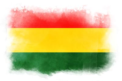 ボリビア多民族国の国旗イラスト 水彩タイプ