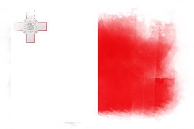 マルタ共和国の国旗イラスト 水彩タイプ