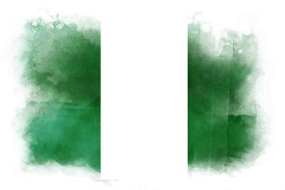 ナイジェリア連邦共和国の国旗イラスト 水彩タイプ
