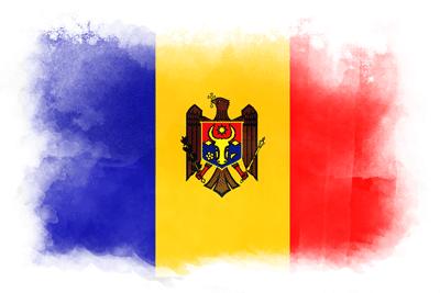 モルドバ共和国の国旗イラスト 水彩タイプ