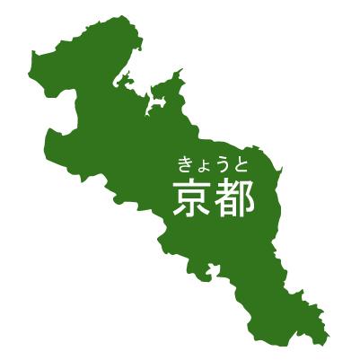 京都府イラストマップ県名ルビあり(緑)