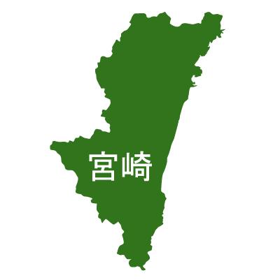宮崎県イラストマップ漢字(緑)