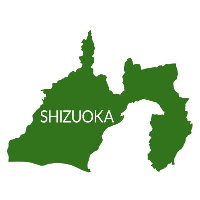 静岡県イラストマップ県名英語(緑)