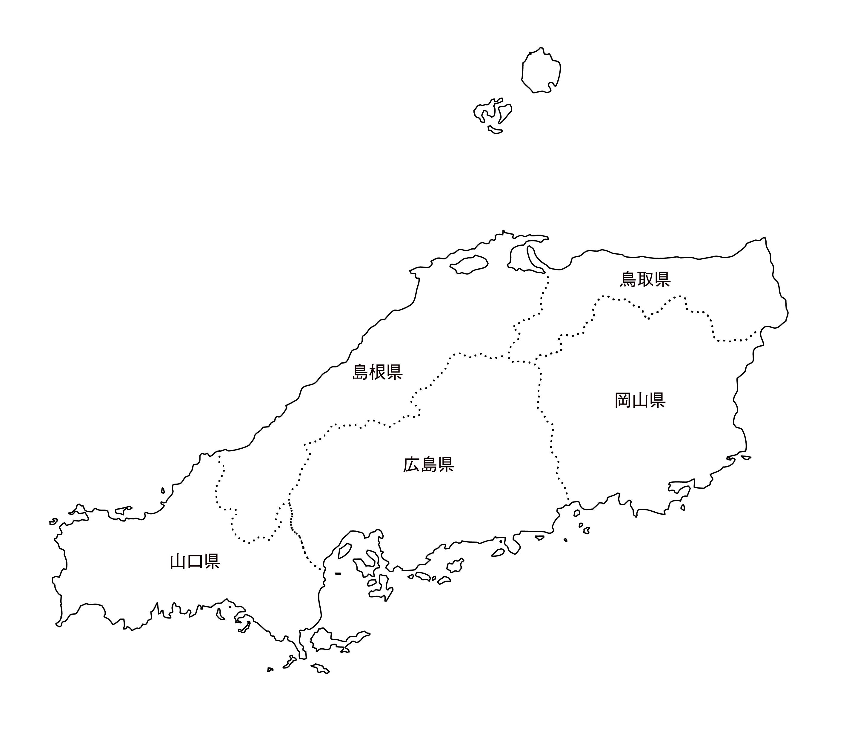 [白地図]中国・都道府県名あり