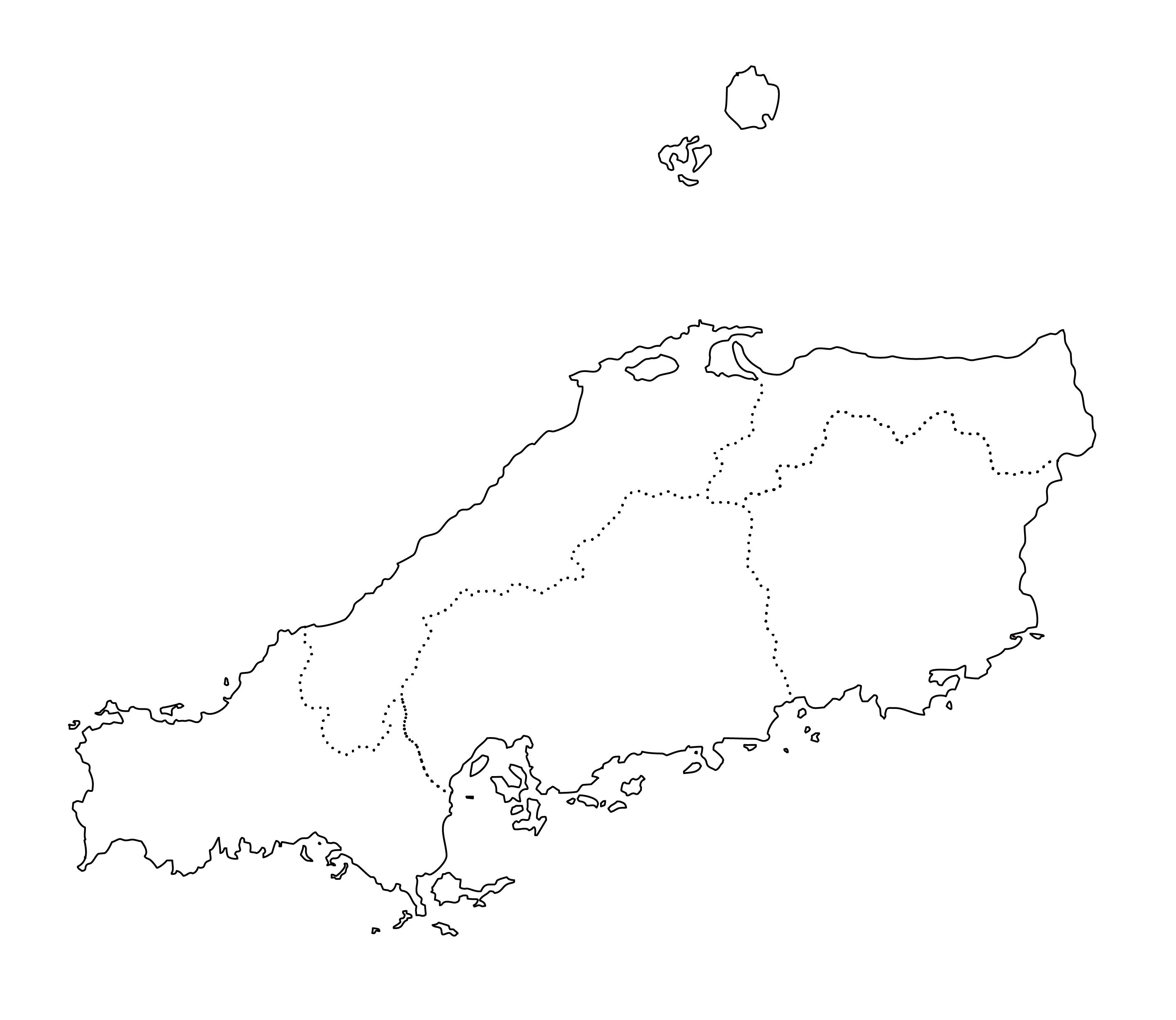 白地図・中国・都道府県名なし