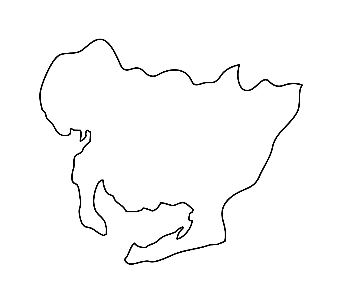 白地図・愛知県・無地