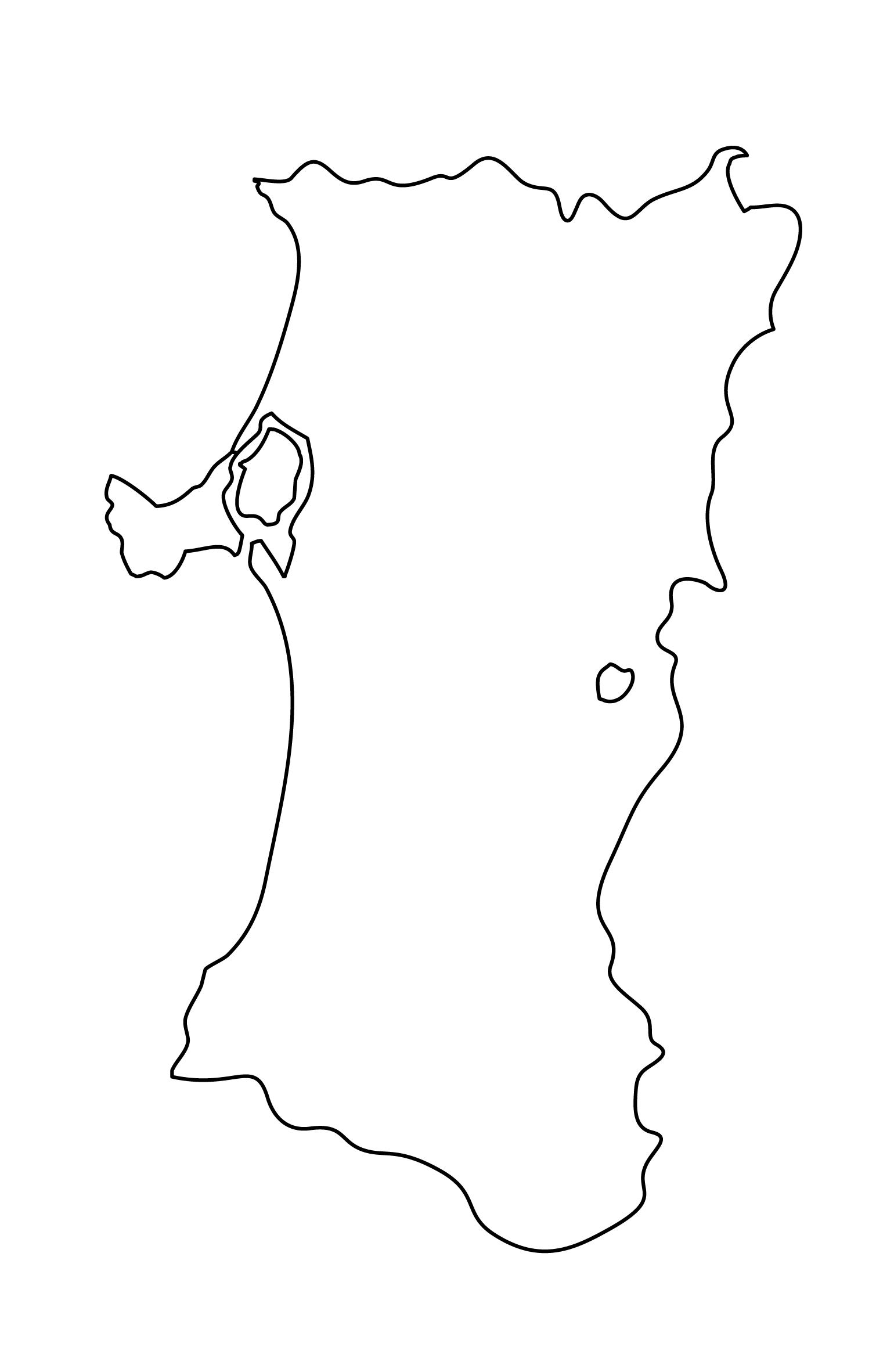白地図・秋田県・無地
