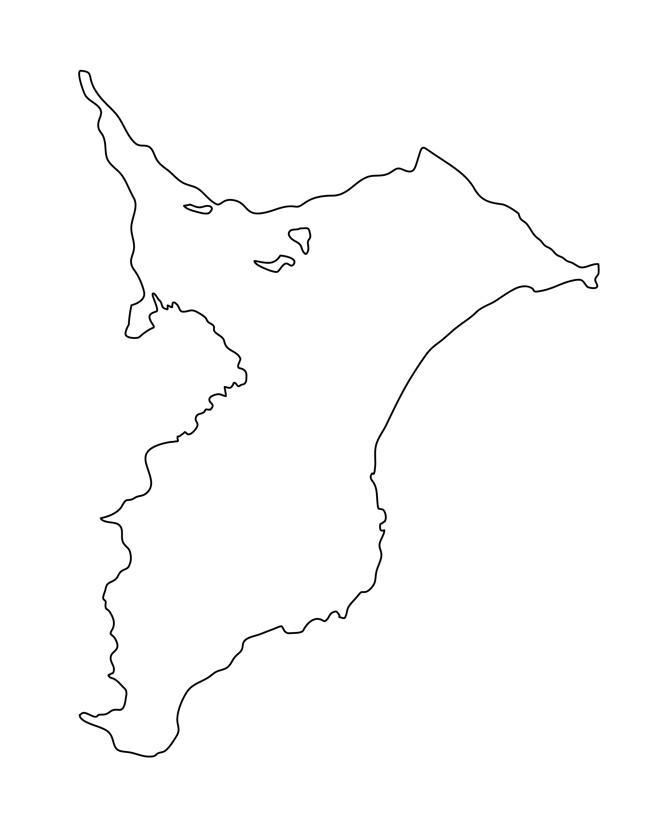白地図・千葉県・無地