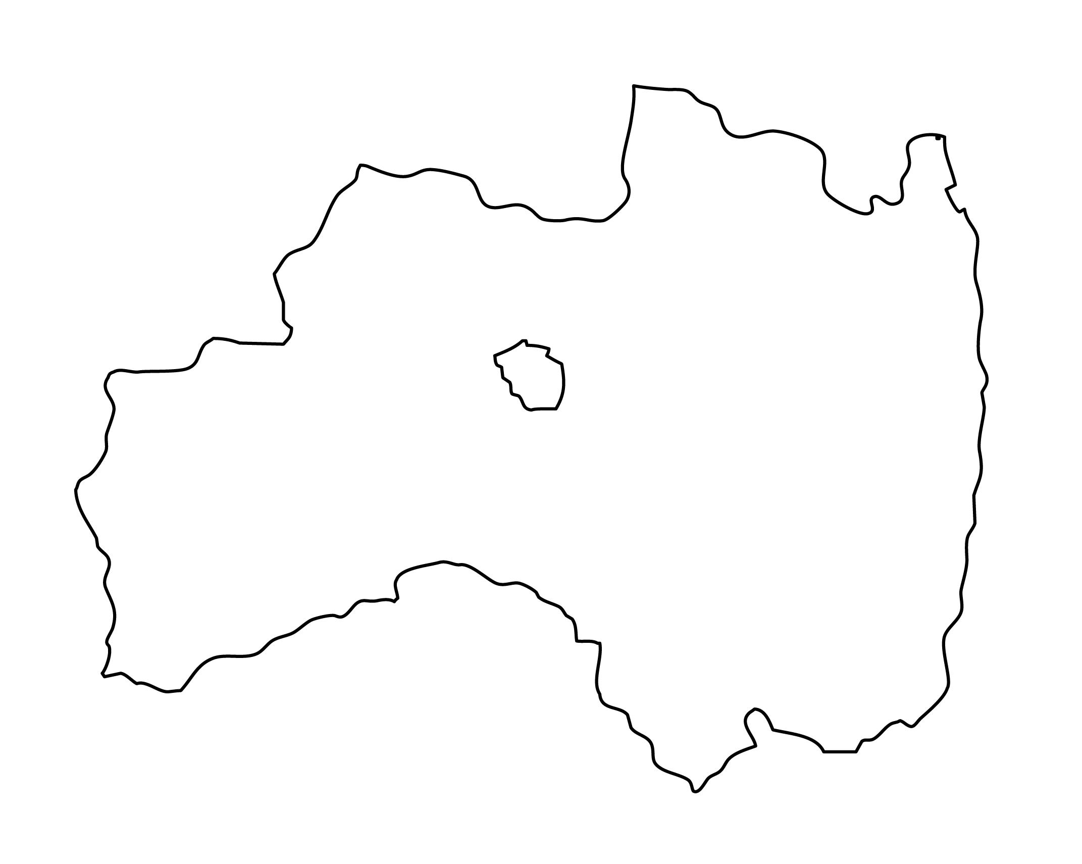 白地図・福島県・無地