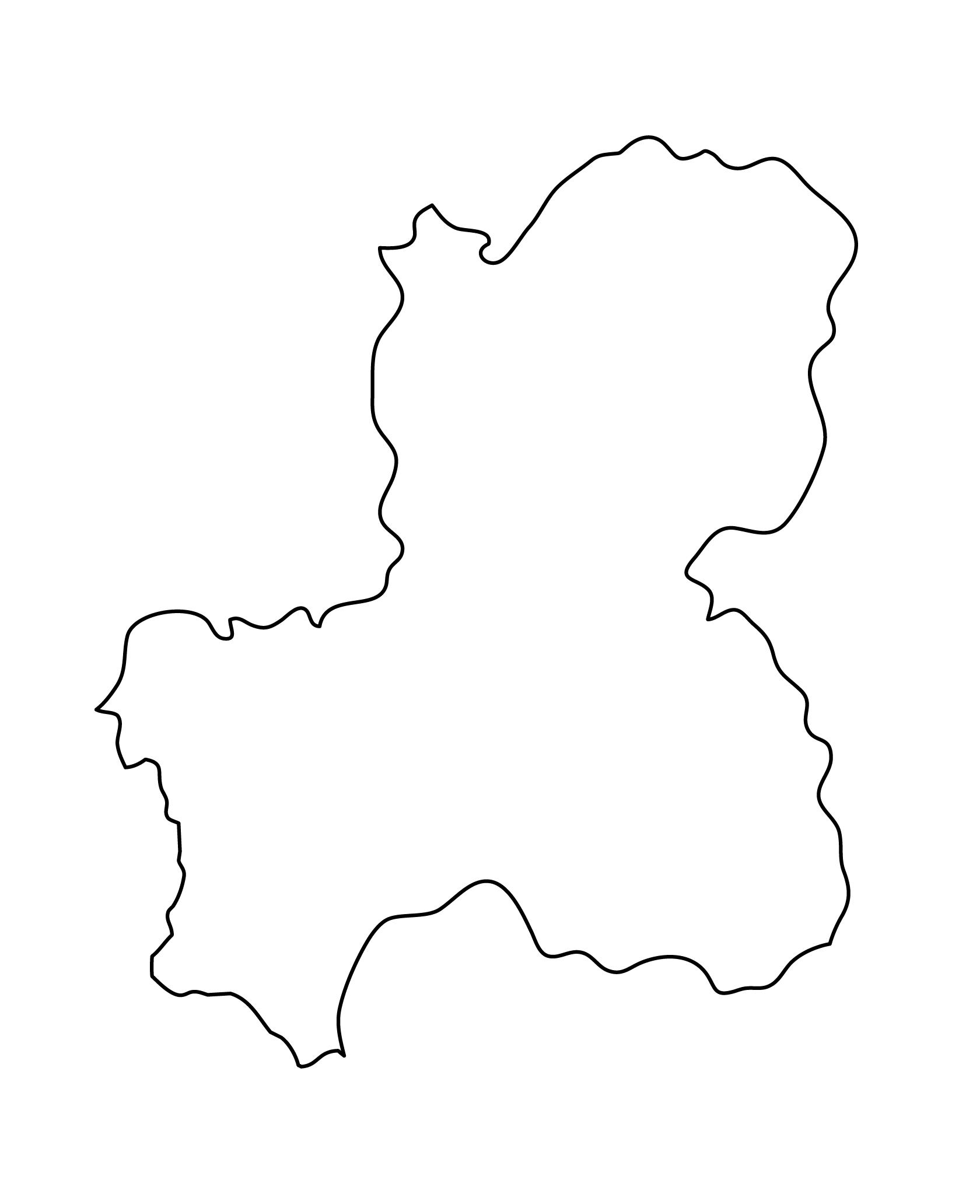 白地図・岐阜県・無地