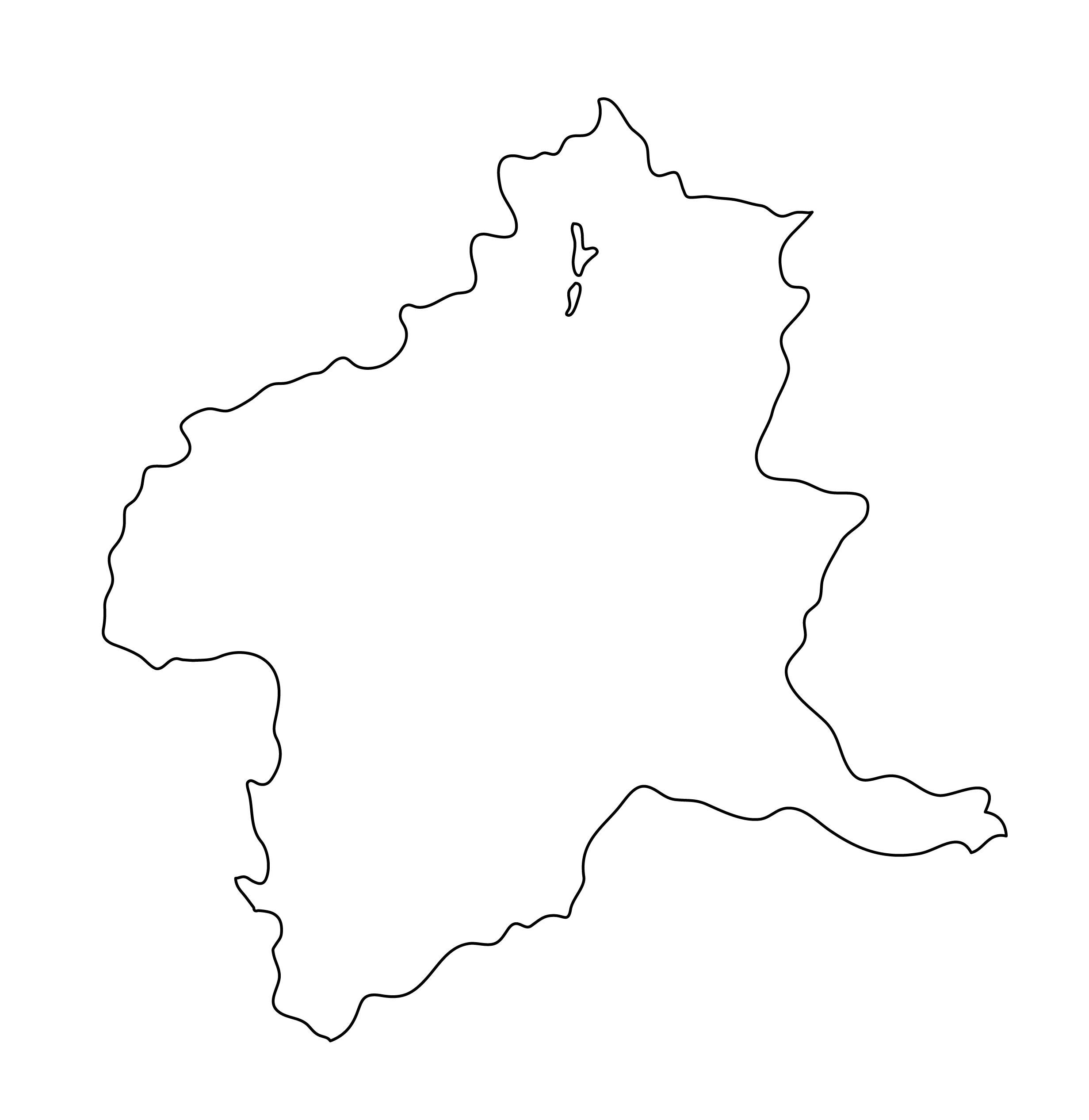 白地図・群馬県・無地