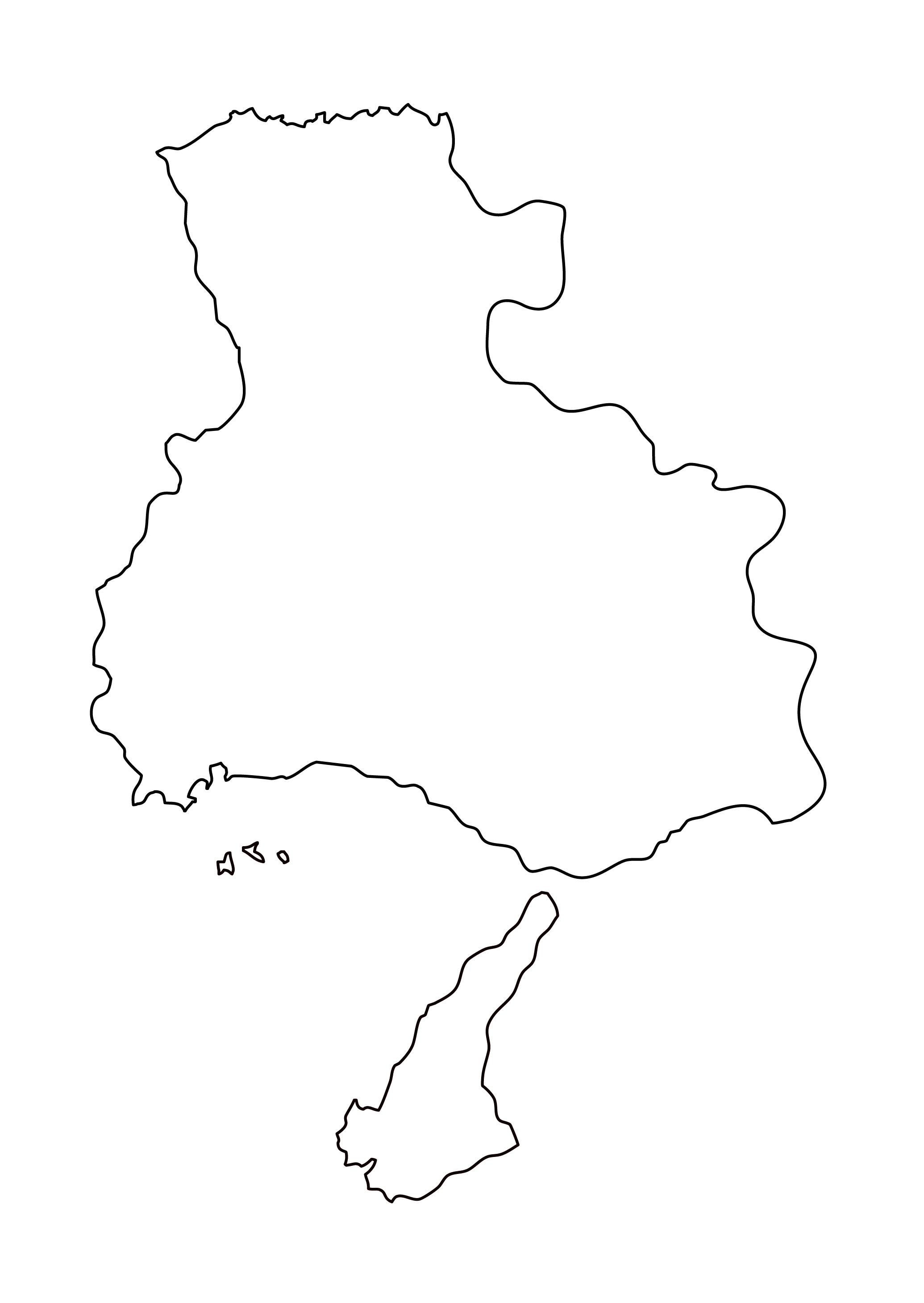 白地図・兵庫県・無地
