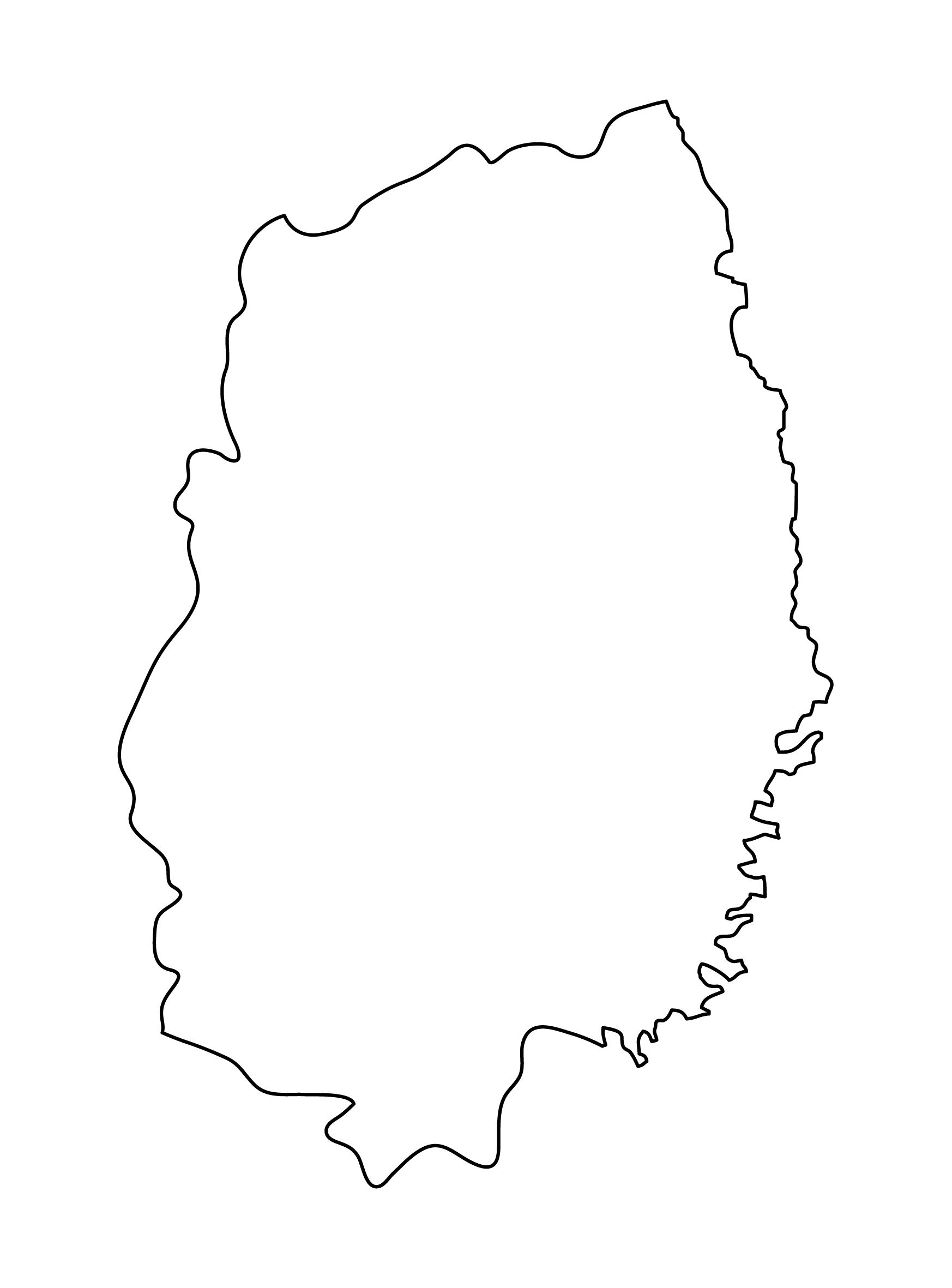 白地図・岩手県・無地