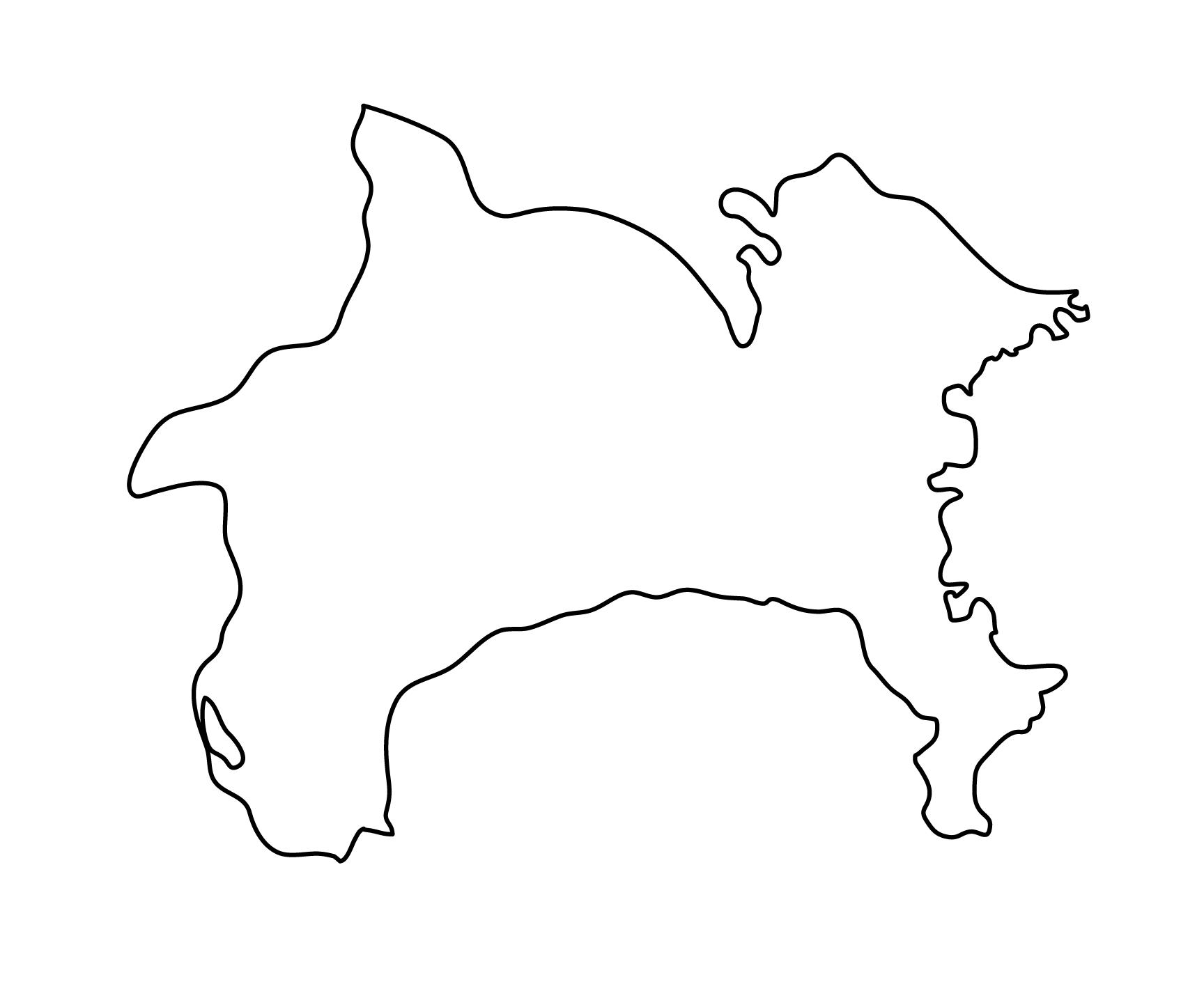 白地図・神奈川県・無地