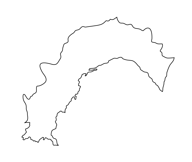 白地図・高知県・無地