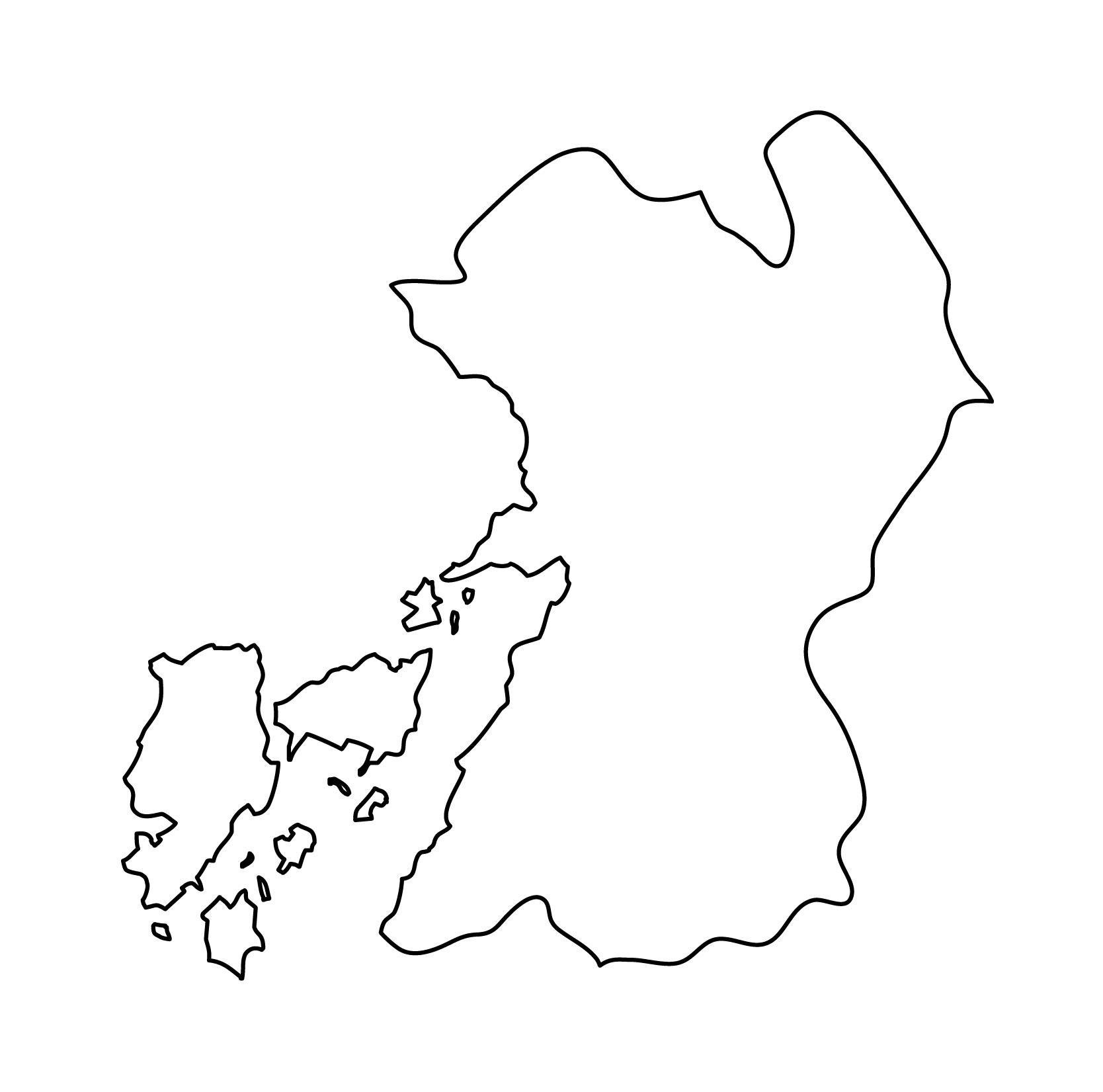白地図・熊本県・無地