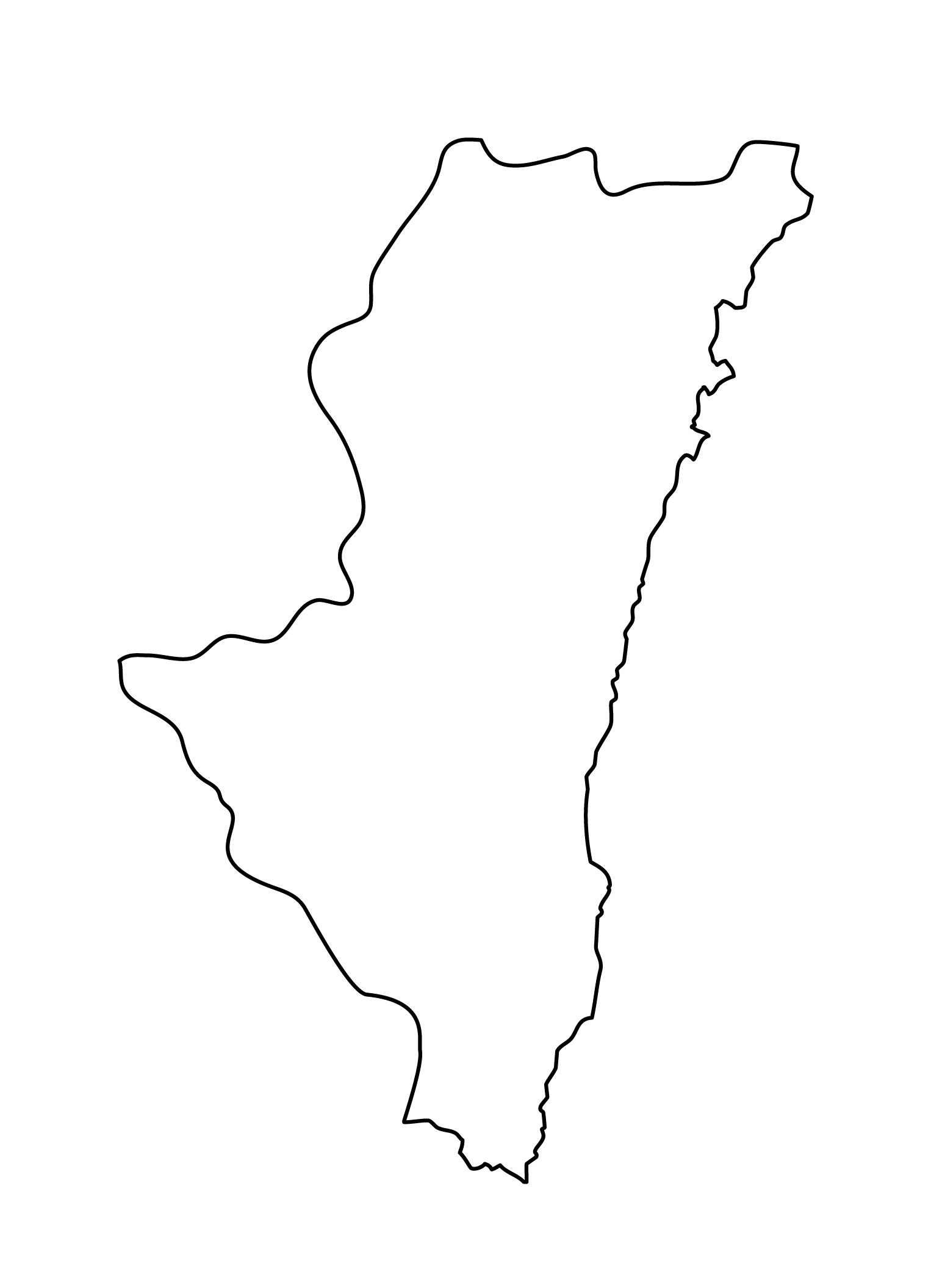 白地図・宮崎県・無地
