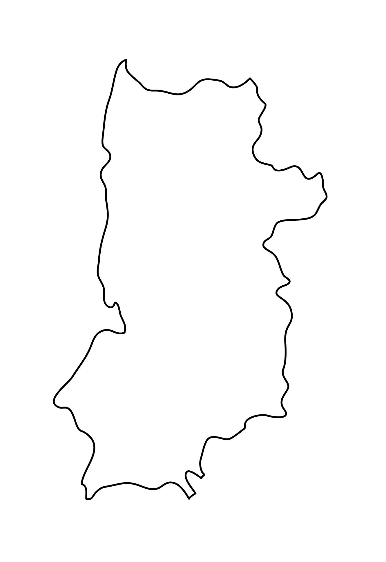 白地図・奈良県・無地