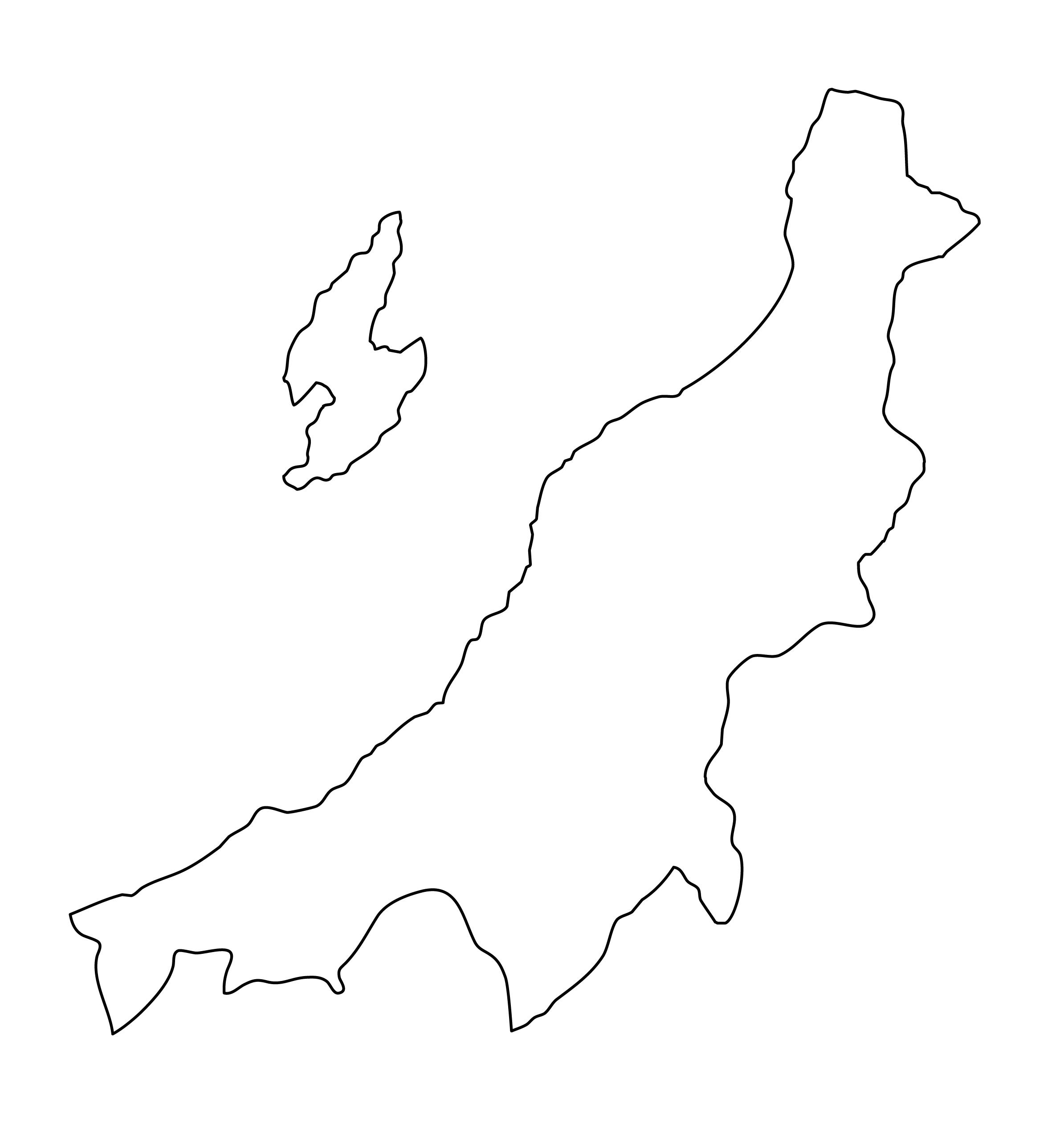 白地図・新潟県・無地