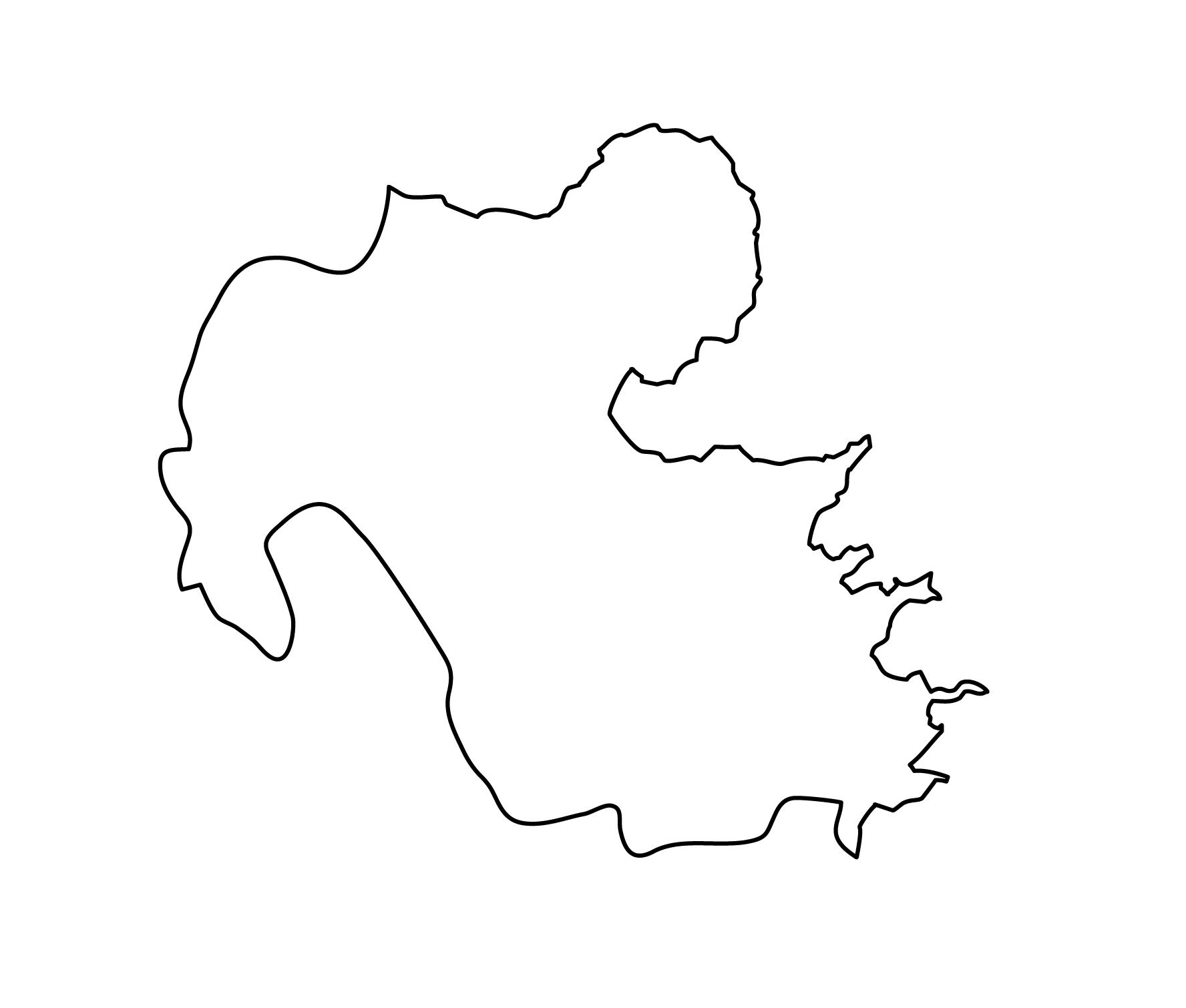 白地図・大分県・無地