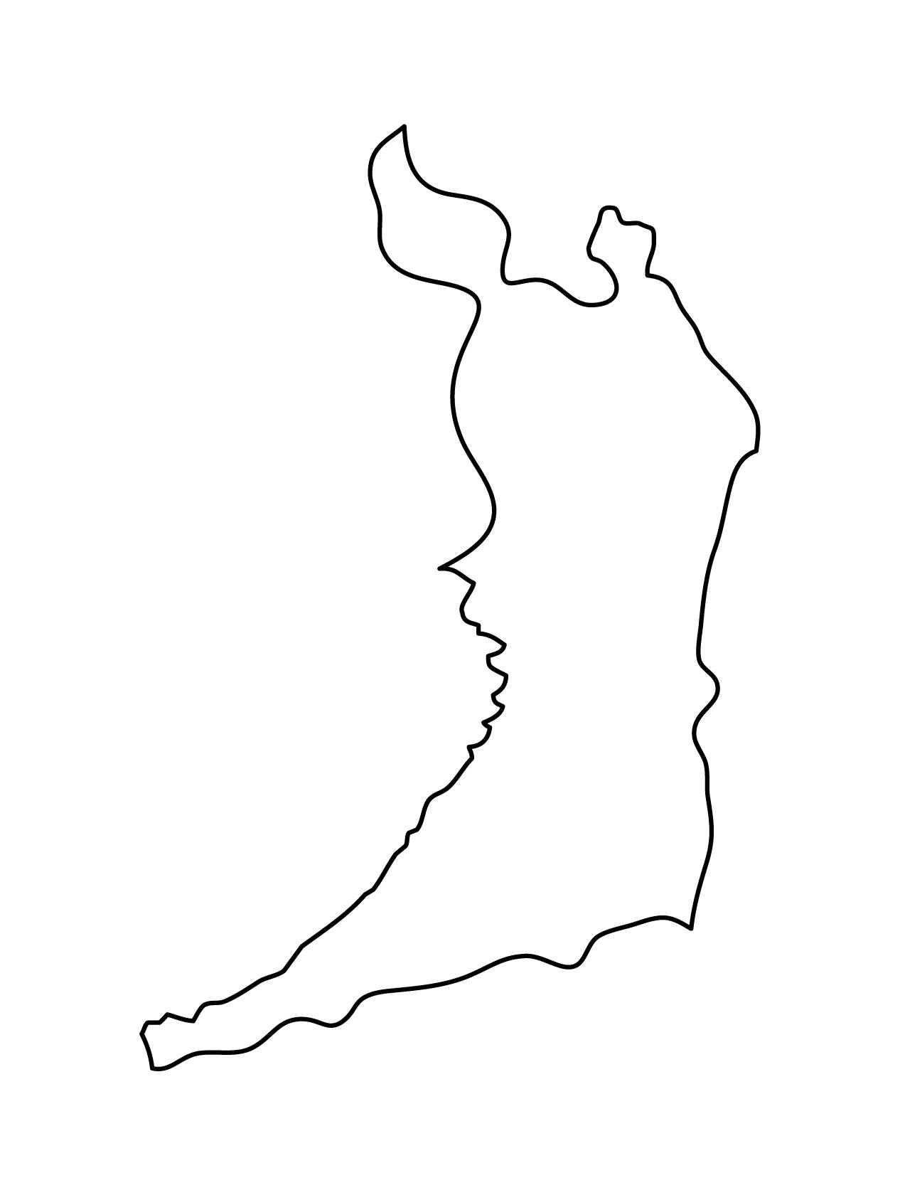 白地図・大阪府・無地