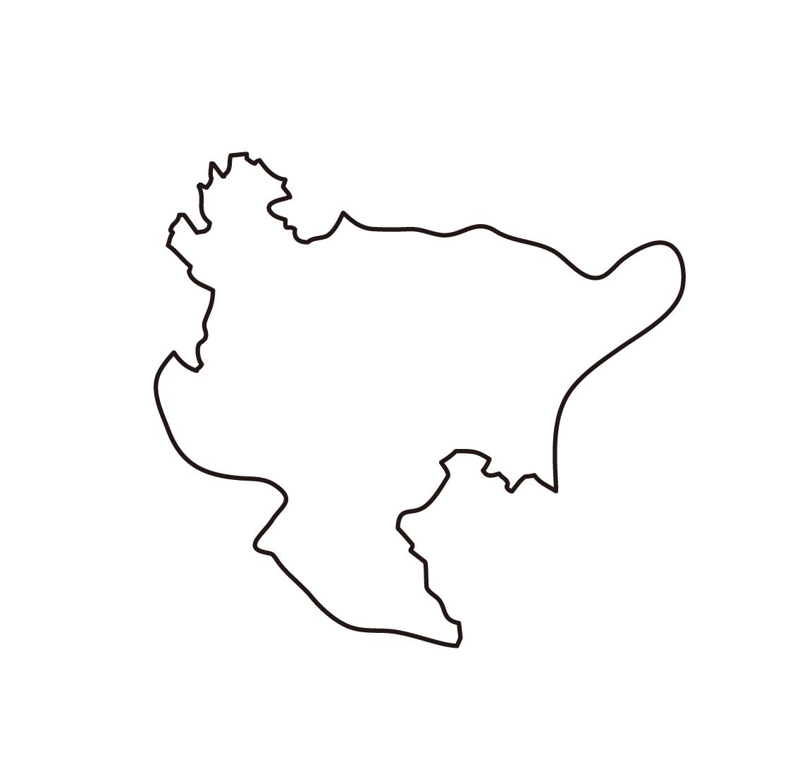 白地図・佐賀県・無地