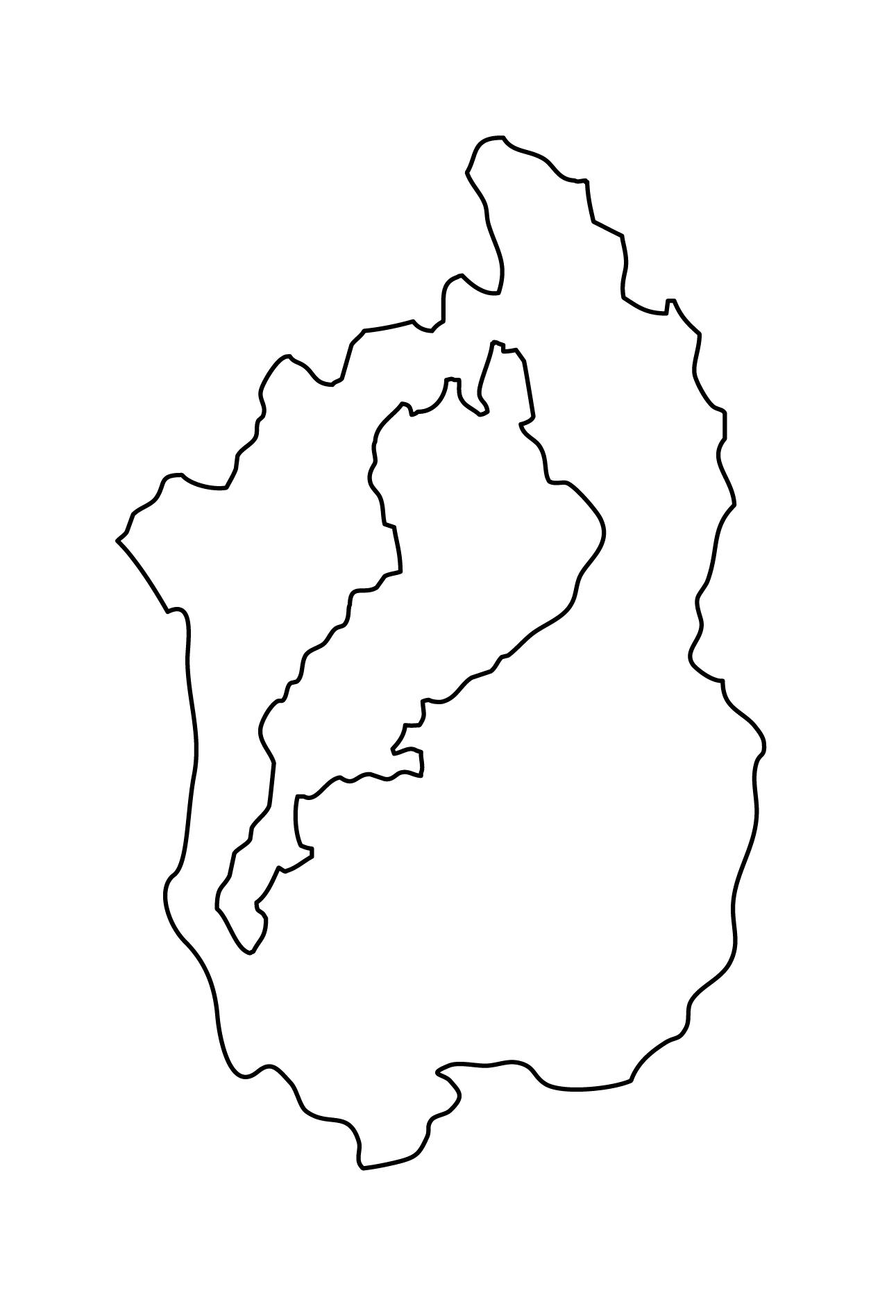 白地図・滋賀県・無地