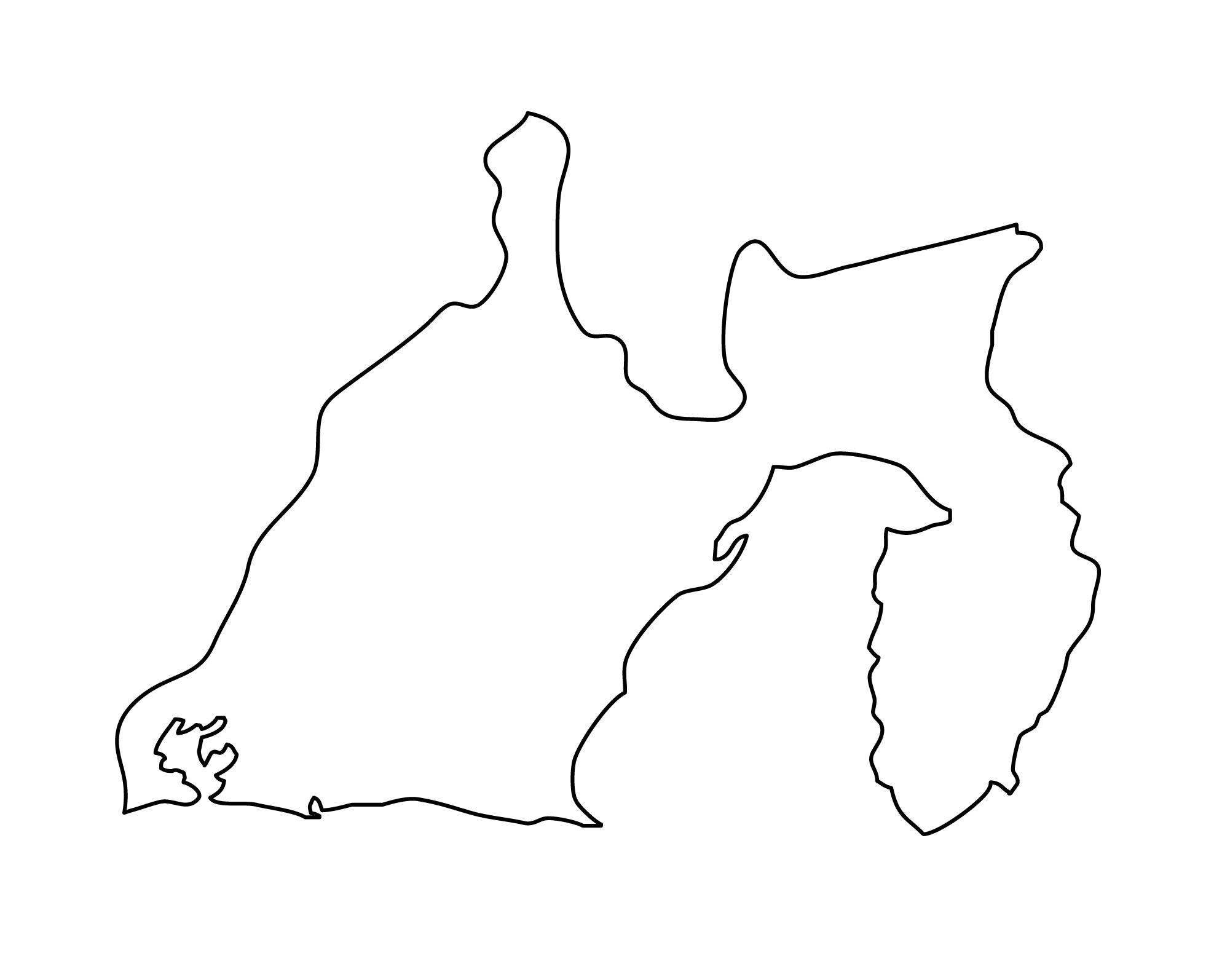 白地図・静岡県・無地