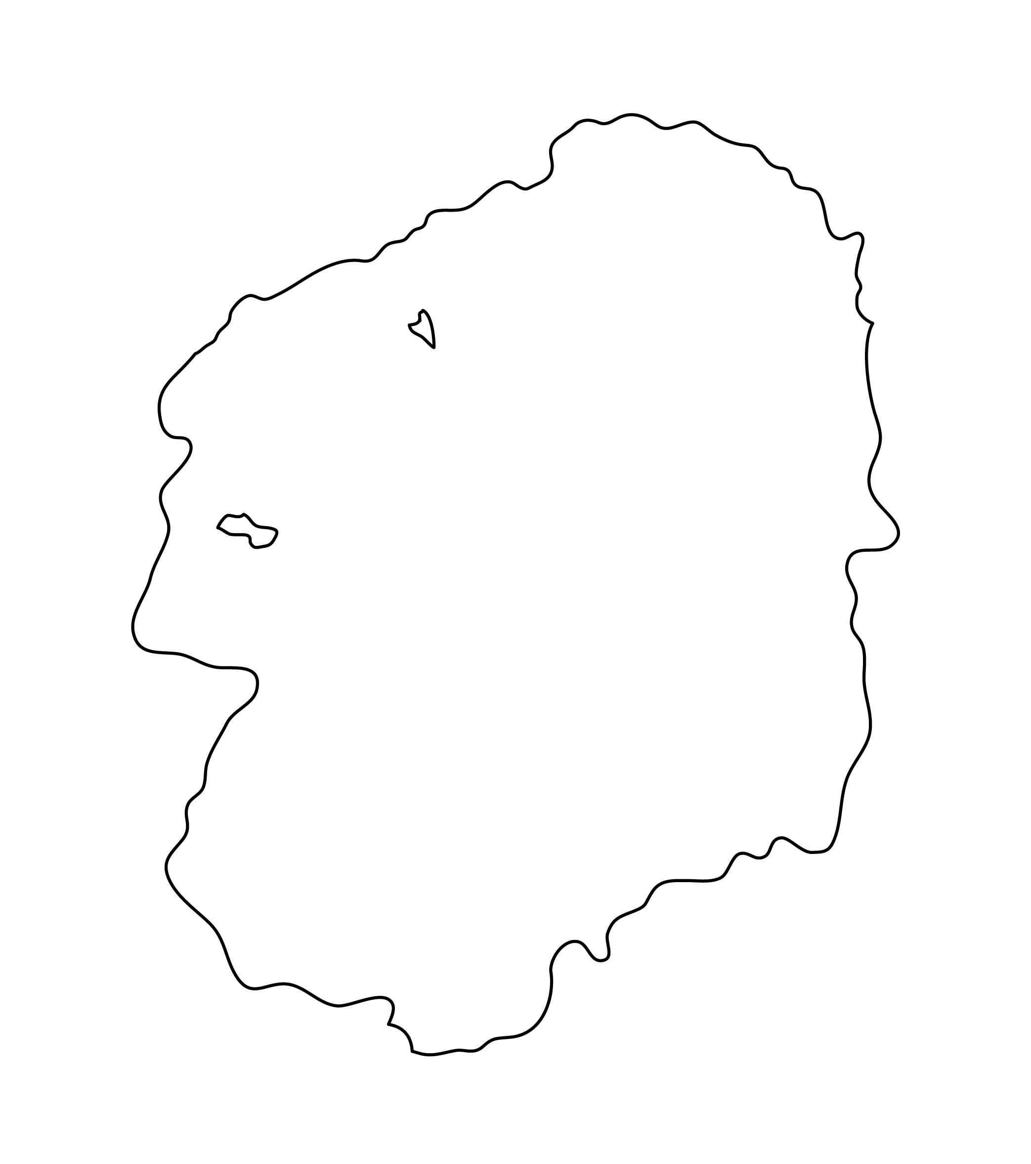 白地図・栃木県・無地