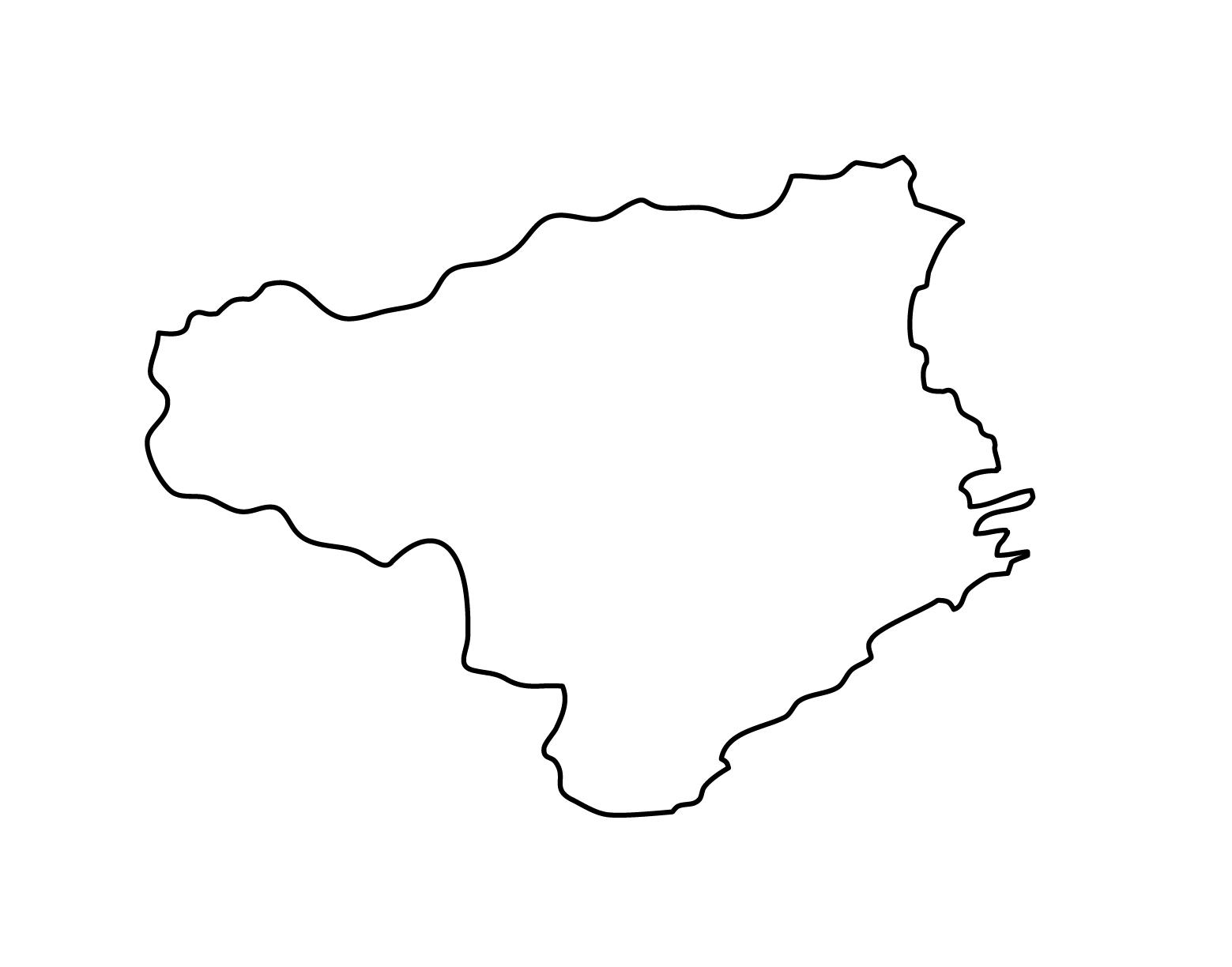 白地図・徳島県・無地