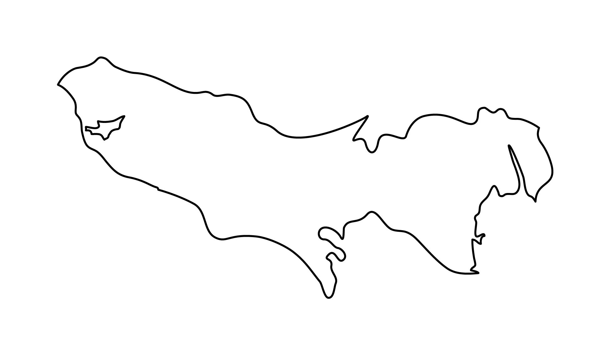 白地図・東京都・無地