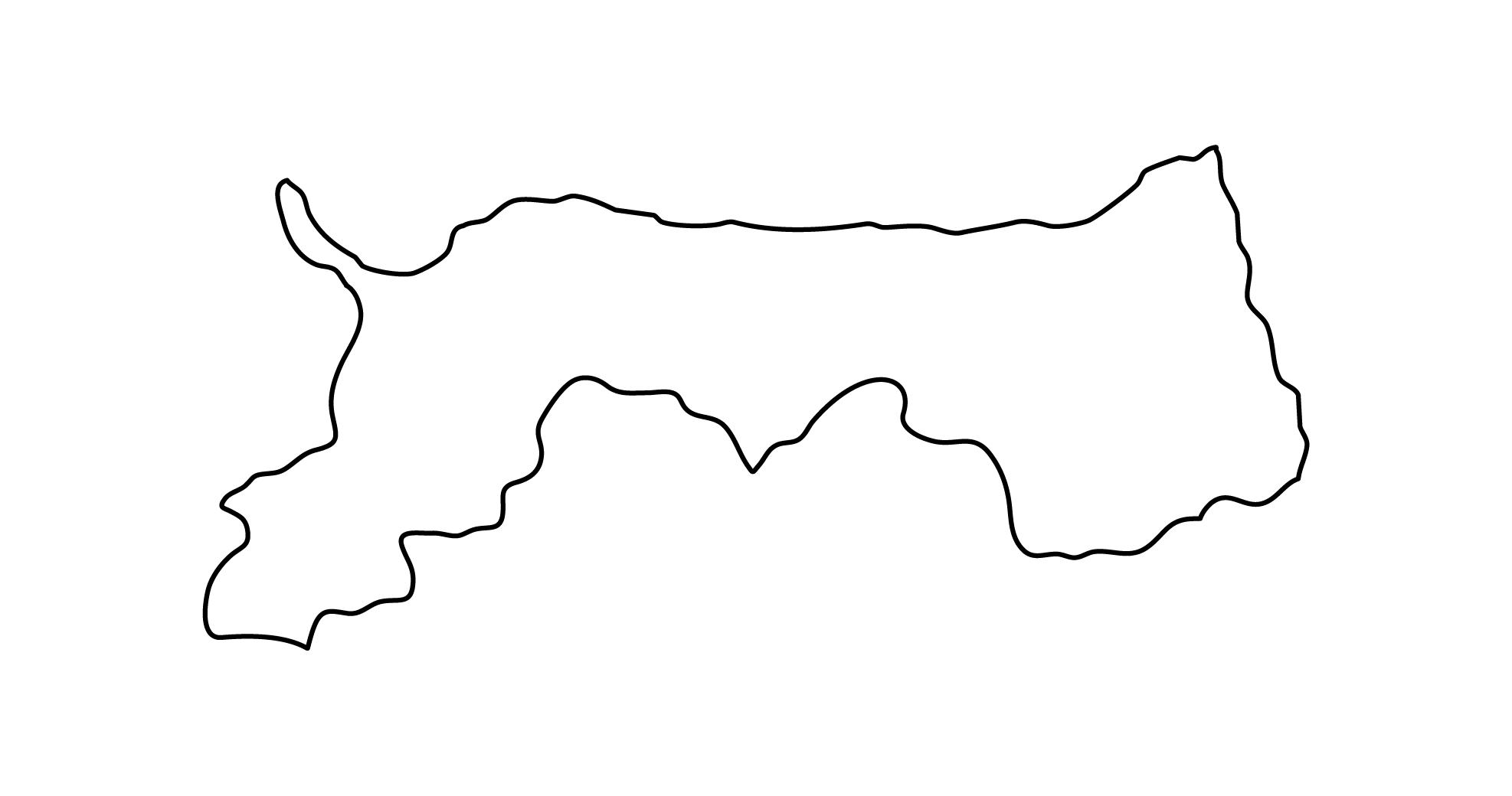 白地図・鳥取県・無地