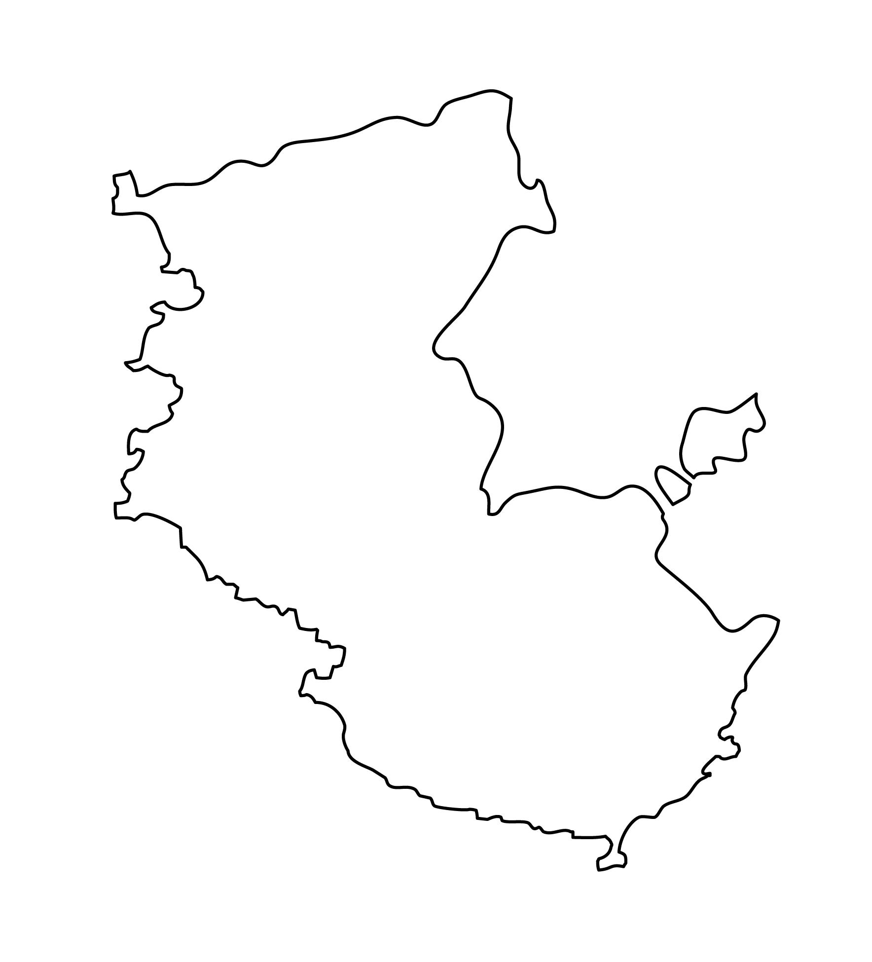 白地図・和歌山県・無地