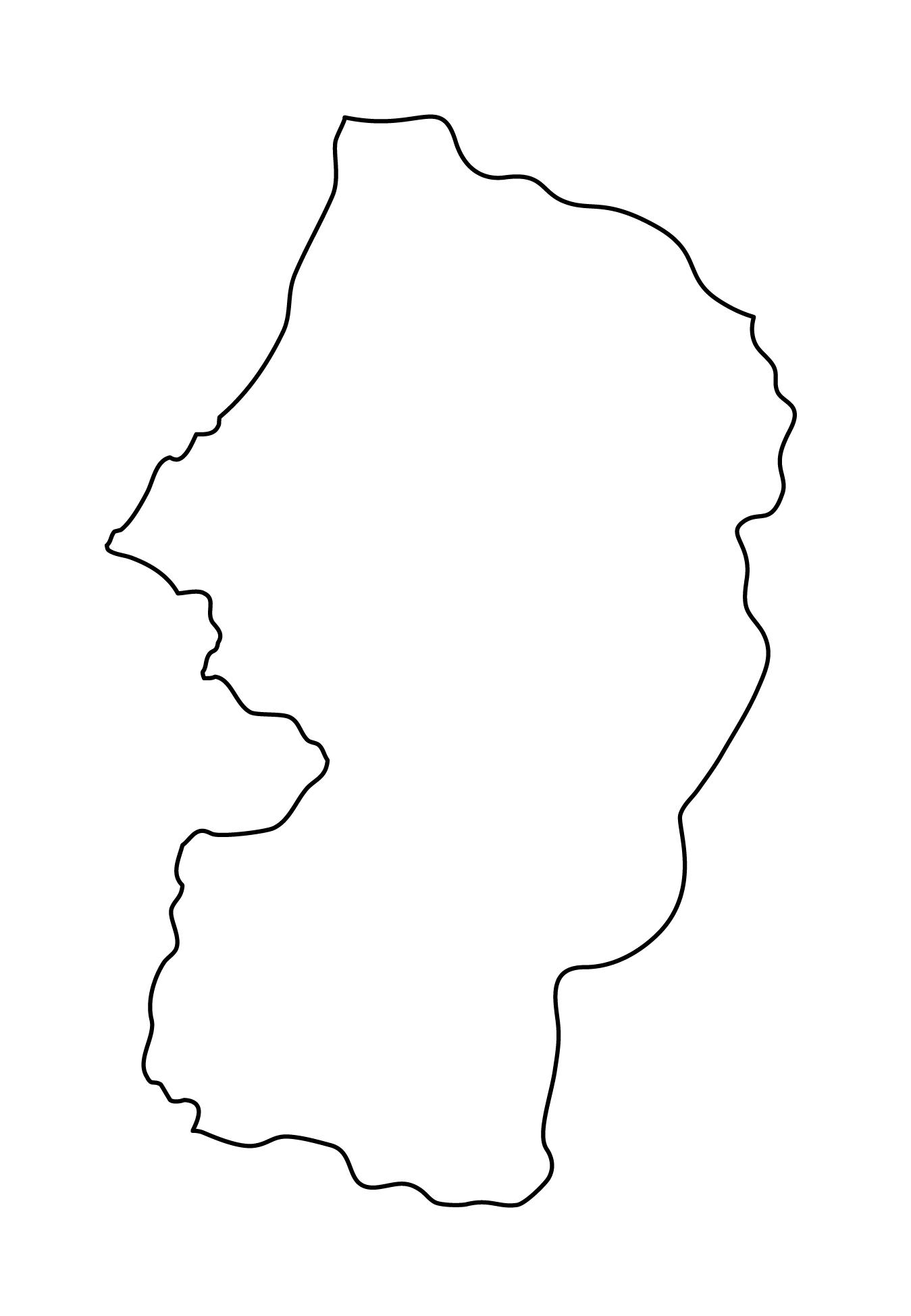 白地図・山形県・無地